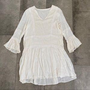 Dresses & Skirts - NWOT cream Bohemian chic dress!